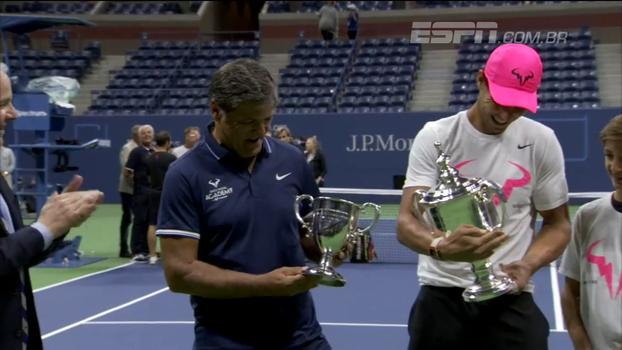 Preparador e tio de Rafael Nadal passa a se dedicar a formação de atletas e é homenageado no US Open