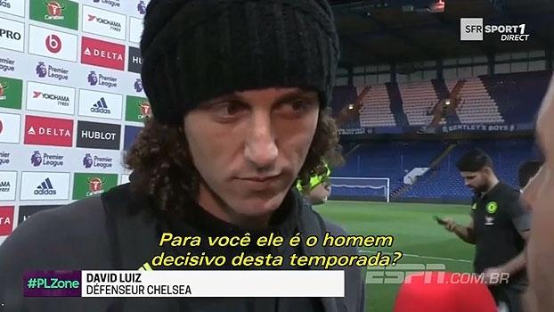 David Luiz não perdoa e dá 'cornetada' em Hazard após vitória do Chelsea