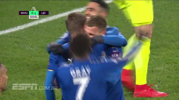 Premier League: Gols de West Ham 1 x 1 Leicester