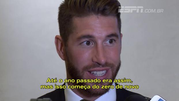 """Sergio Ramos, sobre Champions League: """"O Real vai começar com toda a humildade do mundo"""""""