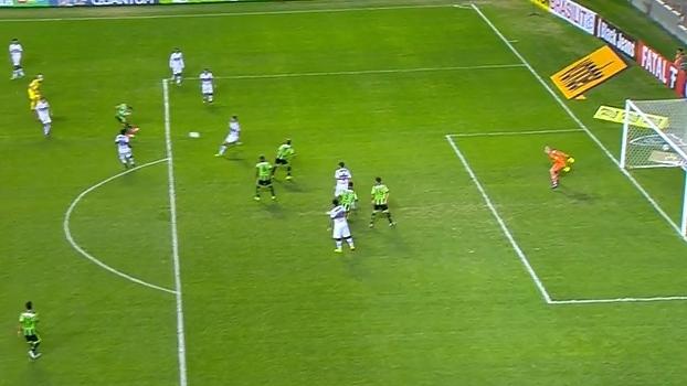 Veja o gol da vitória por 1 a 0 do América-MG sobre o Santa Cruz