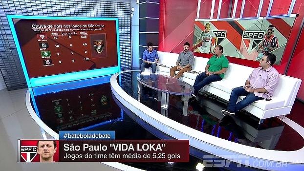Jogos do São Paulo têm maior média de gols; comentaristas analisam proposta de jogo do Tricolor