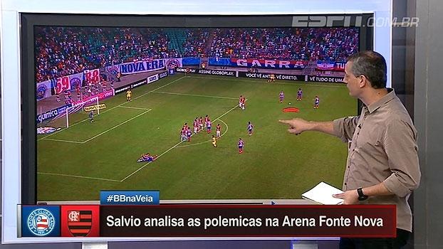 Simulação, juiz mal-posicionado e expulsões: Sálvio analisa lances de Bahia x Flamengo