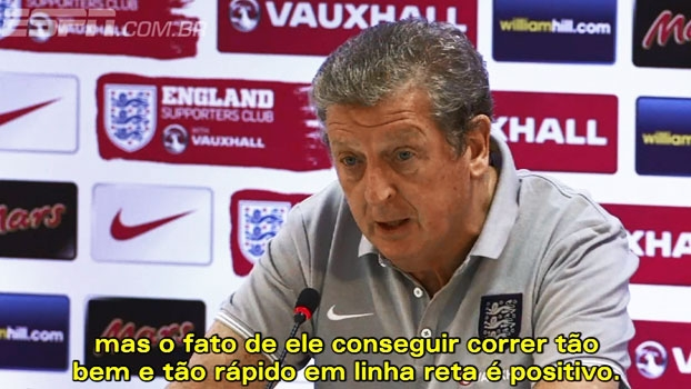 Hodgson está otimista com retorno de Chamberlain e preocupado com Pirlo