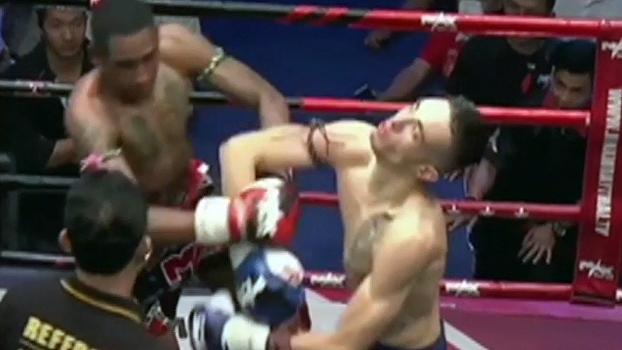 Lutadores protagonizam nocaute duplo em evento de muay thai; veja