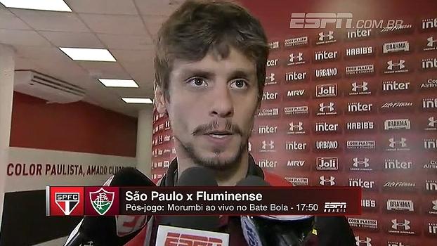 Na chegada ao Morumbi, Rodrigo Caio pede  atenção para parar ataque do Flu