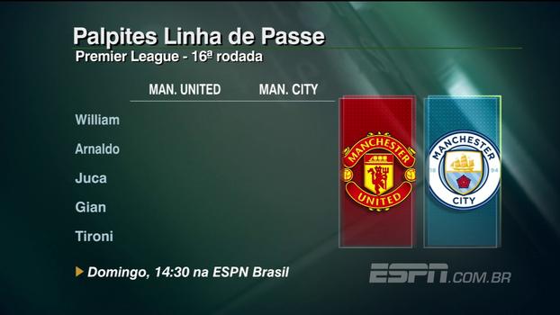 Premier League: assista aos palpites do 'Linha de Passe' para United x City