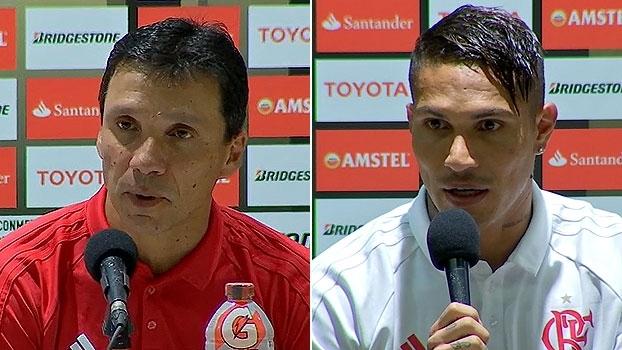 Zé Ricardo comemora atuação do Fla; Guerrero descreve gol