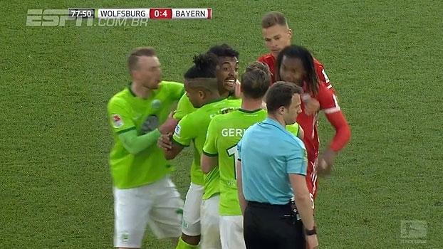 Tempo real: Luiz Gustavo leva segundo amarelo, é expulso e fica descontrolado em campo