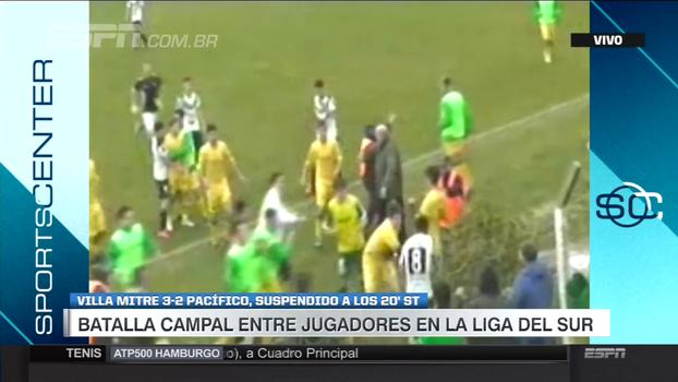Batalha campal entre jogadores suspende partida de liga regional da Argentina