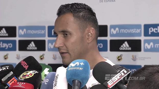 Muralha, K. Navas reforça felicidade, fala do golaço de Asensio e de como é defender chutes dele no treino; veja