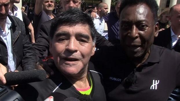 Maradona fala sobre melhora de Pelé: 'Que estejamos sempre juntos, chega de brigas'