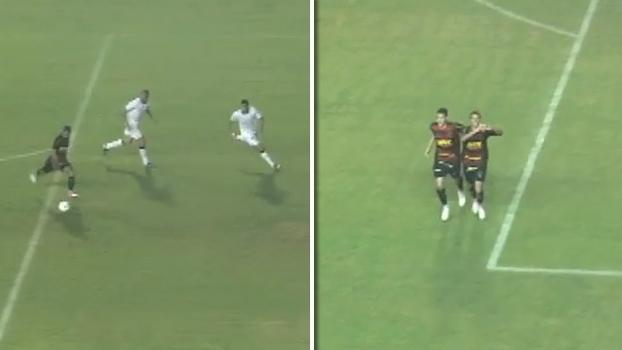 Hoje no Corinthians, Marquinhos Gabriel fez golaço pelo Sport em empate com o Timão há quatro anos