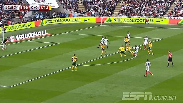 Tempo real: Primeira chance da Inglaterra! Lallana arrisca de fora e o goleiro Setkus defende