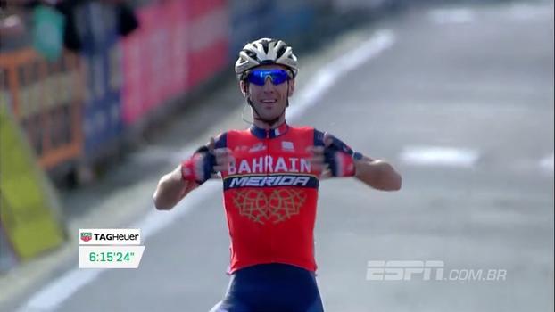 Italiano Vincenzo Nibali vence o Giro di Lombardia pela segunda vez; veja momentos finais da prova
