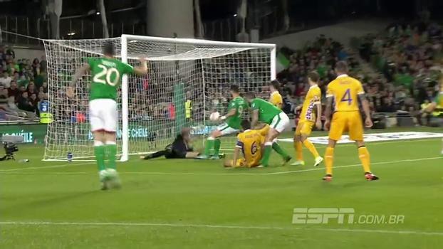 Assista aos gols da vitória da Irlanda sobre a Moldávia por 2 a 0!