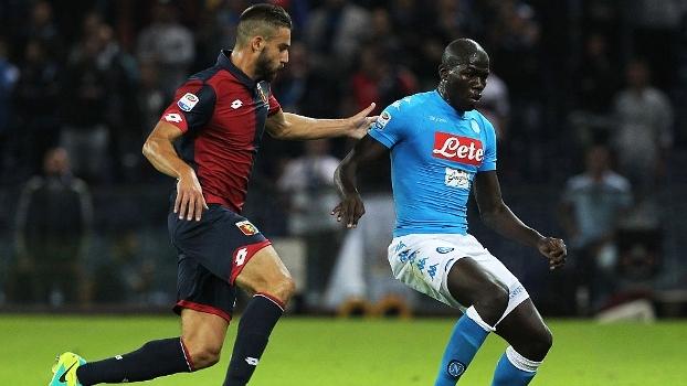 Napoli para no travessão, só empata com Genoa e perde liderança para a Juve