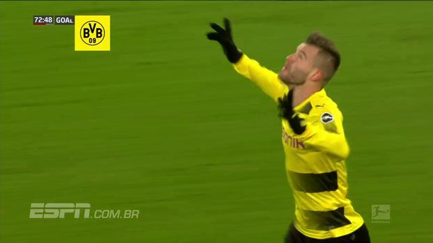 Leverkusen sai na frente, mas Wendell é expulso e Dortmund arranca empate fora de casa