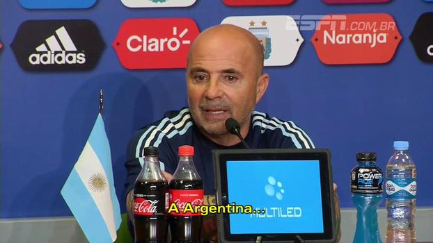 Sampaoli: 'Estou com uma segurança e convicção de que vamos estar na Copa do Mundo'