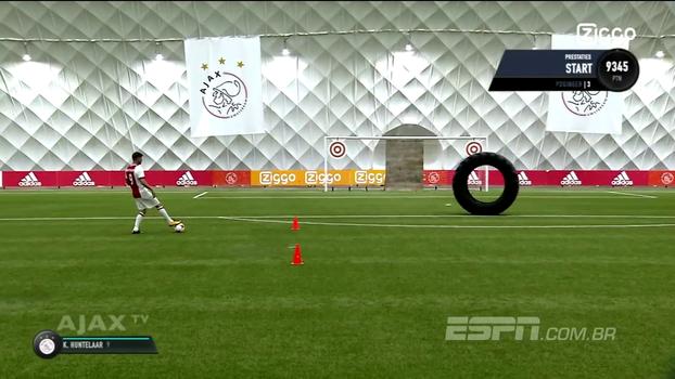 Ajax inova e seus jogadores fazem os famosos desafios do FIFA; David Neres e Huntelaar lideram