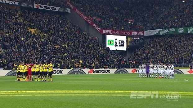 Mais homenagens à Chape: na Bundesliga, Dortmund e M'gladbach respeitam um minuto de silêncio