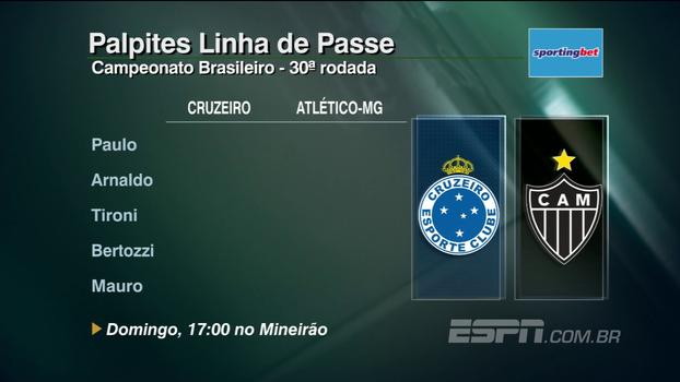 Confira os palpites do 'Linha de Passe' para a 30º rodada do Campeonato Brasileiro