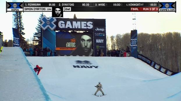 A medalha de Ouro de Simon d'Artois no Ski SuperPipe Masculino