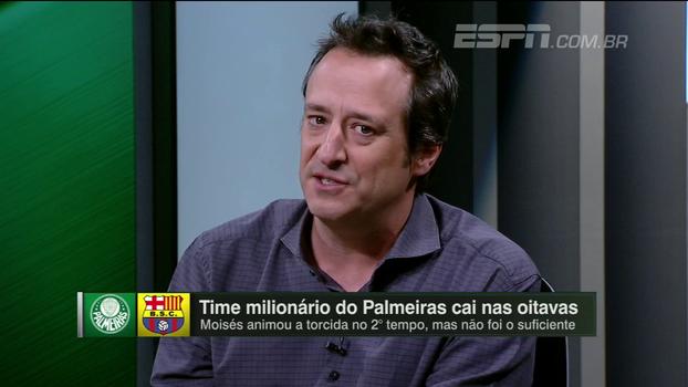 Gian: 'O caráter dramático do jogo não pode esconder o que foi o 1º tempo do Palmeiras'