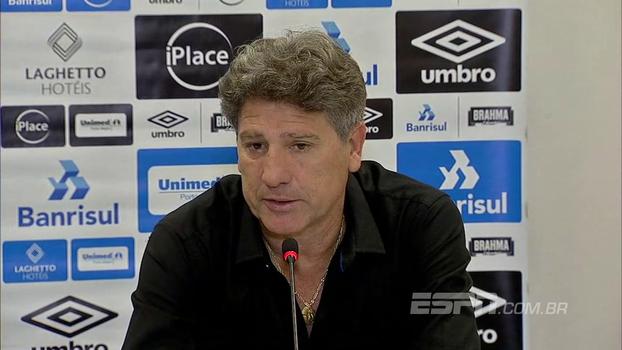 Renato vê Grêmio dominando jogo contra o Corinthians e comemora retorno de Luan: 'Já é um outro time'