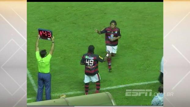 Com gols de Val Baiano e 'Drogbinha', Flamengo de Luxemburgo bateu Atlético-GO em 2010