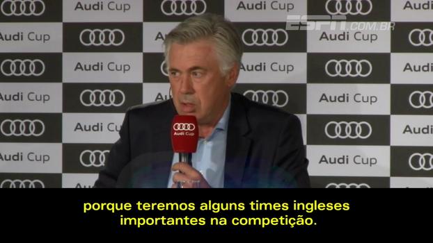 Carlo Ancelotti espera Champions League mais difícil nesta temporada