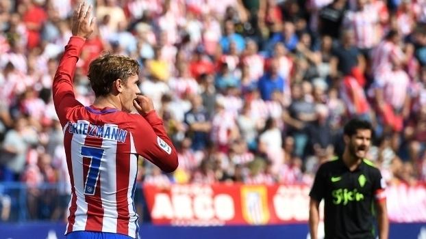 Assista aos gols da goleada do Atlético de Madri por 5 a 0 sobre o Sporting Gijón