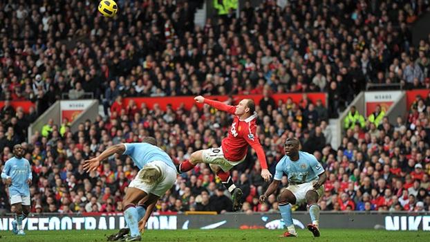 Patadas, coberturas e até bicicletas: veja o Top 10 de Rooney, que volta a enfrentar o City nesta segunda