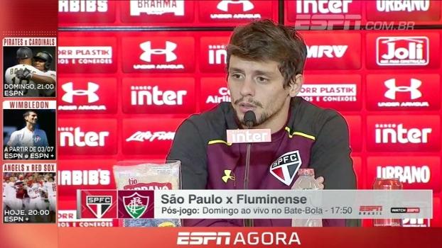 Rodrigo Caio fala sobre saída de Lucão, renovação de Lugano e momento difícil do São Paulo