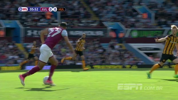 Aston Villa sai na frente, mas toma o empate do Hull City na abertura da 2ª divisão do Inglês