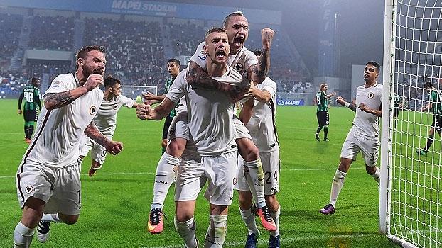 Italiano: Gols de Sassuolo 1 x 3 Roma