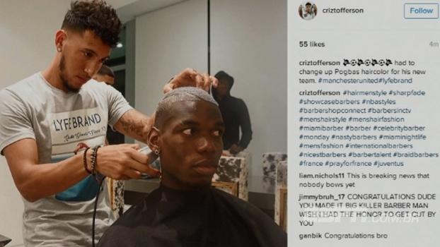 Barbeiro 'entrega' destino de Pogba em post no Instagram; veja