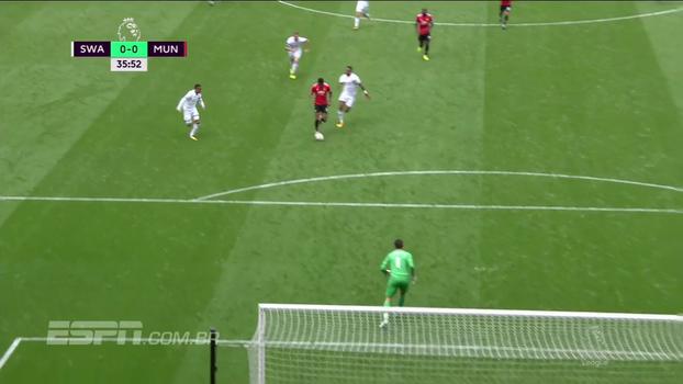 Tempo real: Rashford sai na cara do gol, mas chuta fraco nas mãos de Fabiansky