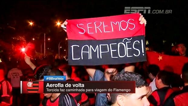 Aero-Fla: veja a festa da torcida rubro-negra antes de viagem da delegação para Curitiba