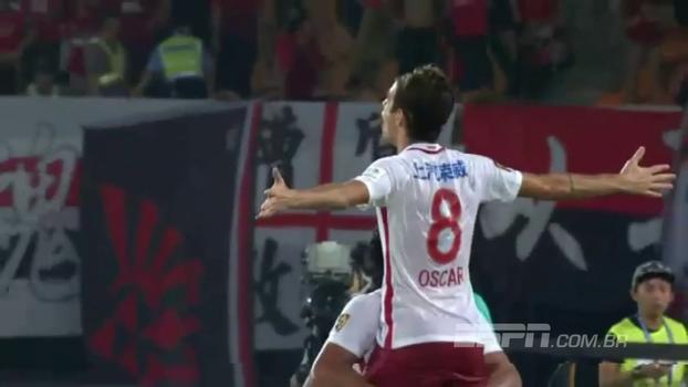Com direito a golaço, Oscar marca duas vezes em goleada do Shanghai SIPG pela Copa da China