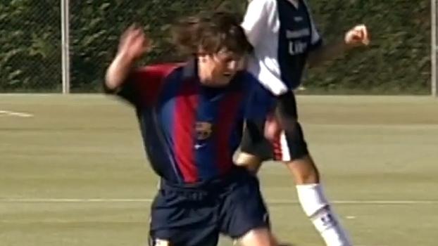 Na base do Barça, Messi foi camisa 8, 14, 16, 11... E marcou golaços com elas