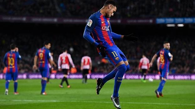 Não foi só em rede social que Neymar rebateu críticas! Ele também 'respondeu' em campo e jogou muito; veja