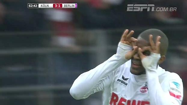 Modeste faz hat-trick e é o nome da vitória do Colônia sobre o Hertha