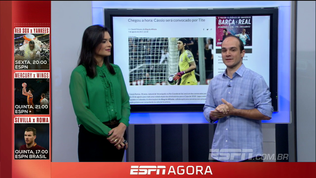Blogueiro do Corinthians no ESPN FC crava a convocação de Cássio para a seleção brasileira