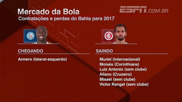 Veja as contratações e as perdas do Bahia para 2017