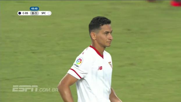 Ganso dá passe magistral e deixa meia do Sevilla na cara do gol