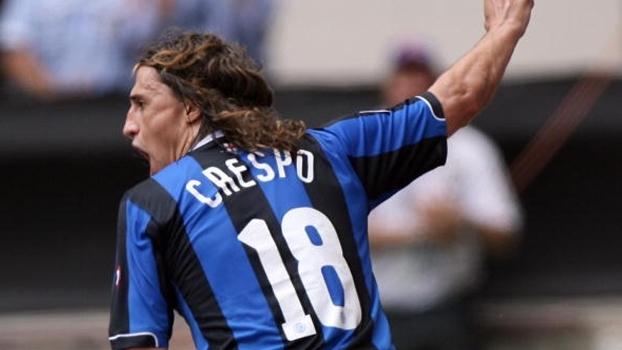 Crespo fez três contra o ex-time e Internazionale bateu Lazio por 4 a 3 em 2007