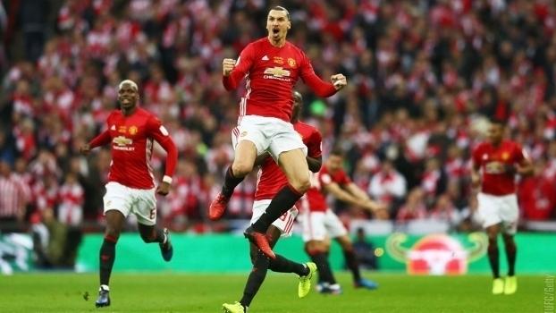 Confira todos os gols da vitória do Manchester United sobre o Southampton por 3 a 2 na final da Copa da Liga Inglesa