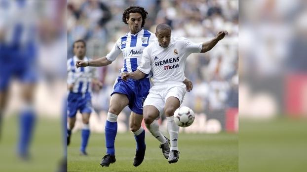 Real Madrid venceu Málaga em 2003 com 'canhão' de Roberto Carlos e show da dupla Raúl-Morientes