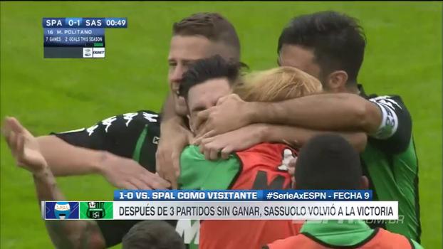 Perdeu a chance: SPAL é derrotado pelo Sassuolo em casa e segue na zona da degola do Italiano